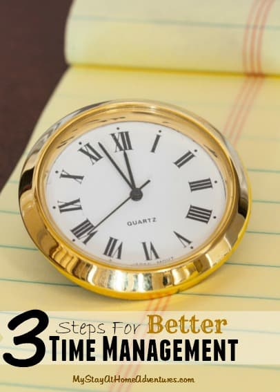 Steps for better time management small ad