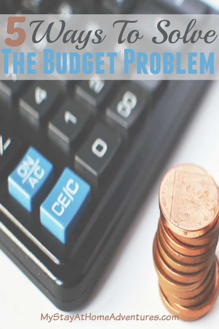 Have a budget and can't seem to figure it out? Here are 5 ways to help you solve the budget problem and help you kick-start your personal finance today. Learn how to solve each problem and start practicing it today.