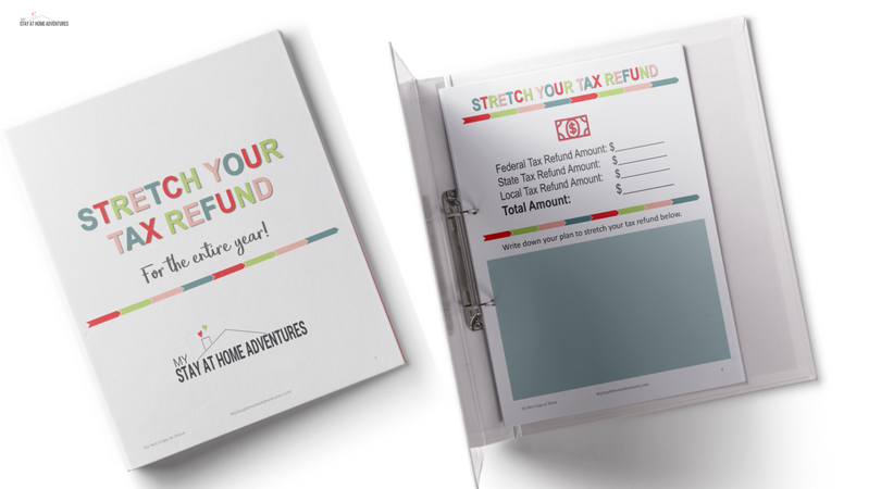 Avoid wasting your tax refund on things you don't need and download this free planner to guide you to save your money.