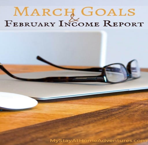 March Goals & February Income Report