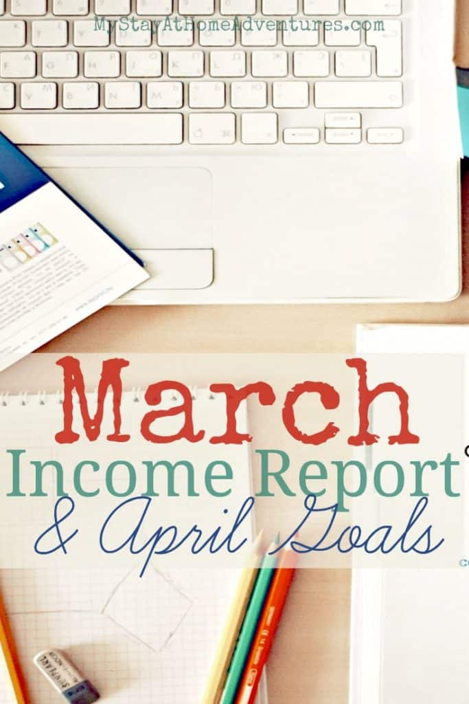 March Income Report and April Goals - WoW March was like a roller coaster for me. Up one minute, down the next. Here you have my March Income Report and April Goals.