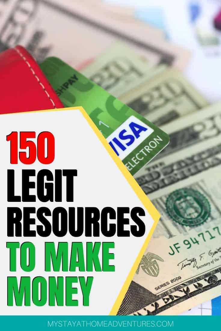 Learn how to make extra cash with over 150 realistic resources to make money and keep making. Start implementing these ideas and watch your money grow. via @mystayathome