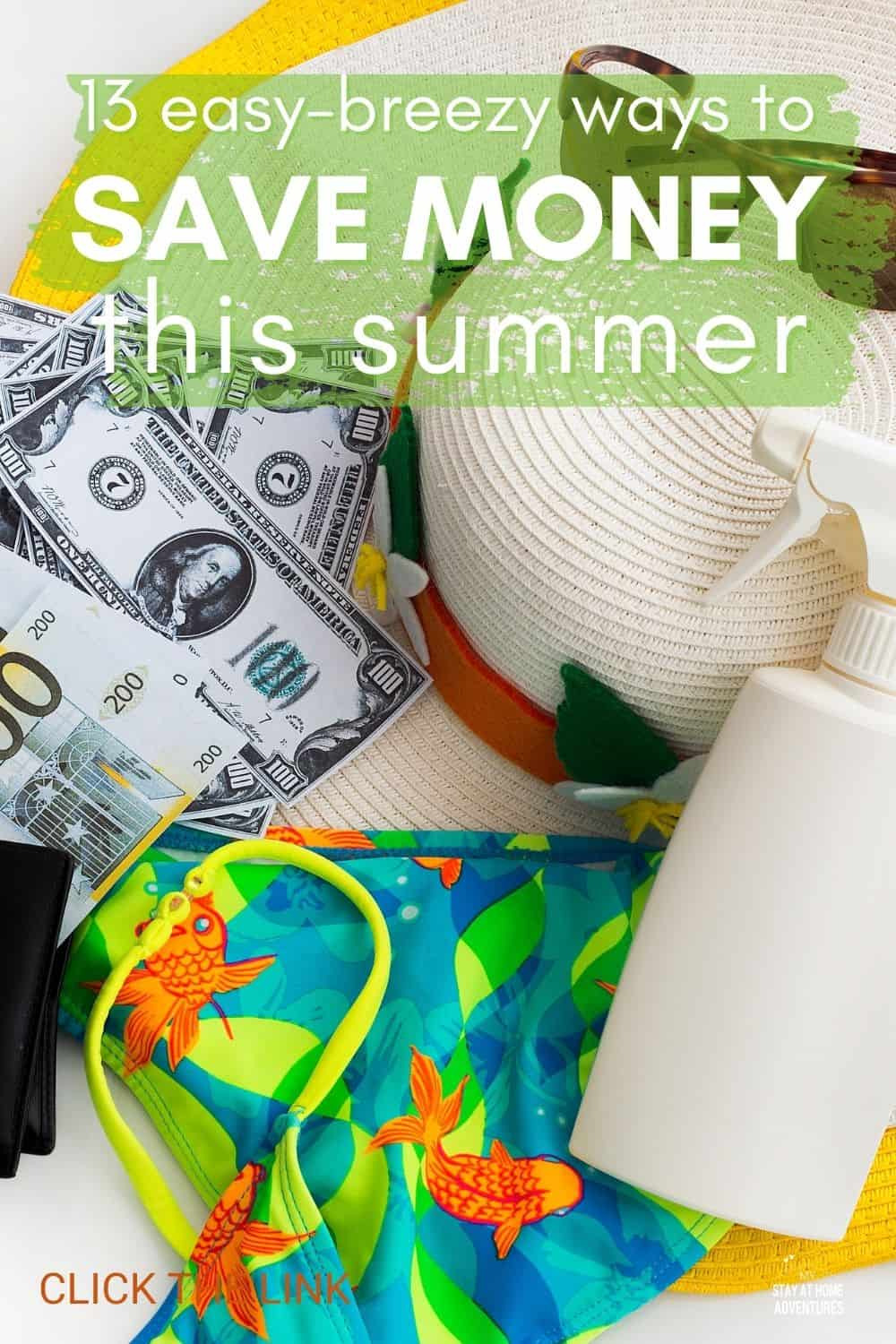 Feeling overwhelmed by summer expenses? Follow our simple tips, and you'll be saving money without even noticing. Don't forget to tell us your favorite tip! #moneysavingtips #savemoney #summer via @mystayathome