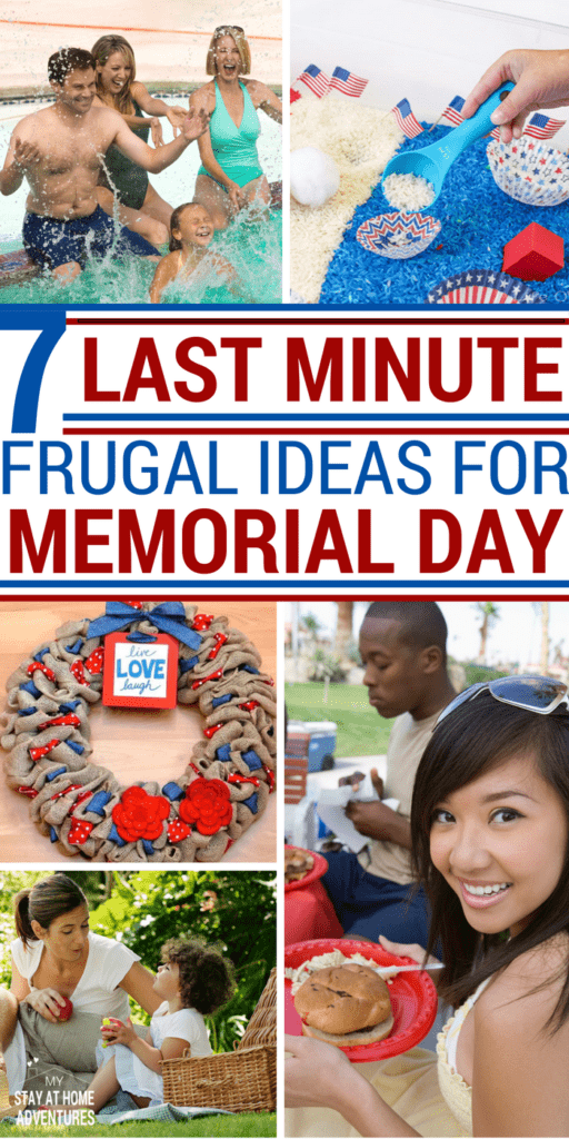 Don't break the bank this Memorial Day weekend! Learn 7 last minutes frugal ideas for Memorial Day weekend that your family is going to love and you so will your budget. Enjoying the weekend doesn't have to bust the budget with these frugal ideas for Memorial Day.