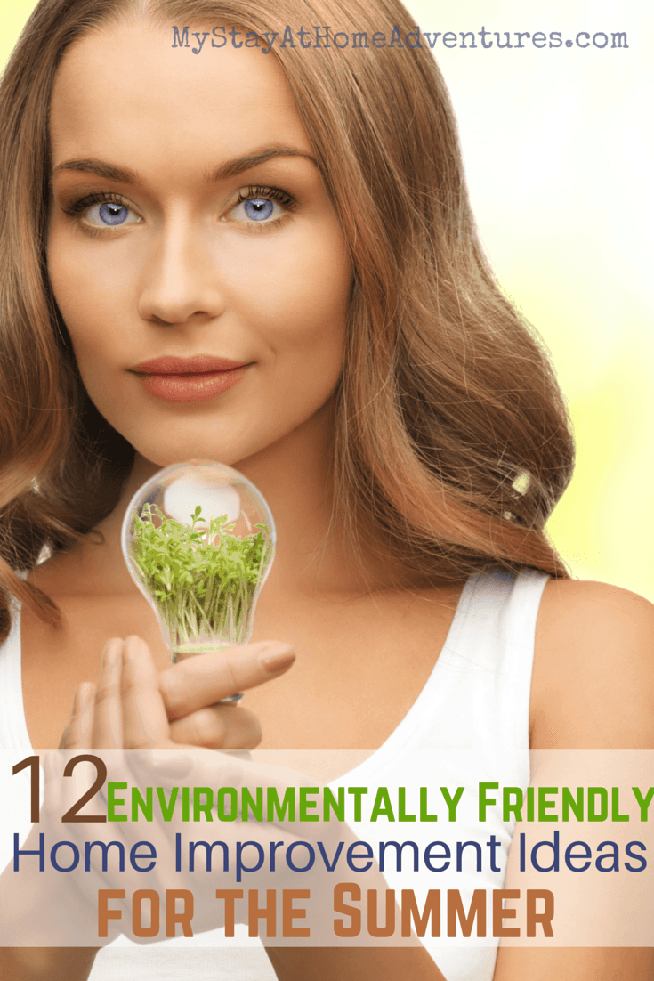 Here are 12 Environmentally Friendly Home Improvement Ideas for the Summer to help your wallet. It's a great time to think about your home improvement wish list. The home improvements with the best returns are often environmentally friendly, eco-conscious projects. These projects aren't merely good for Mother Nature, they're also good for your wallet.