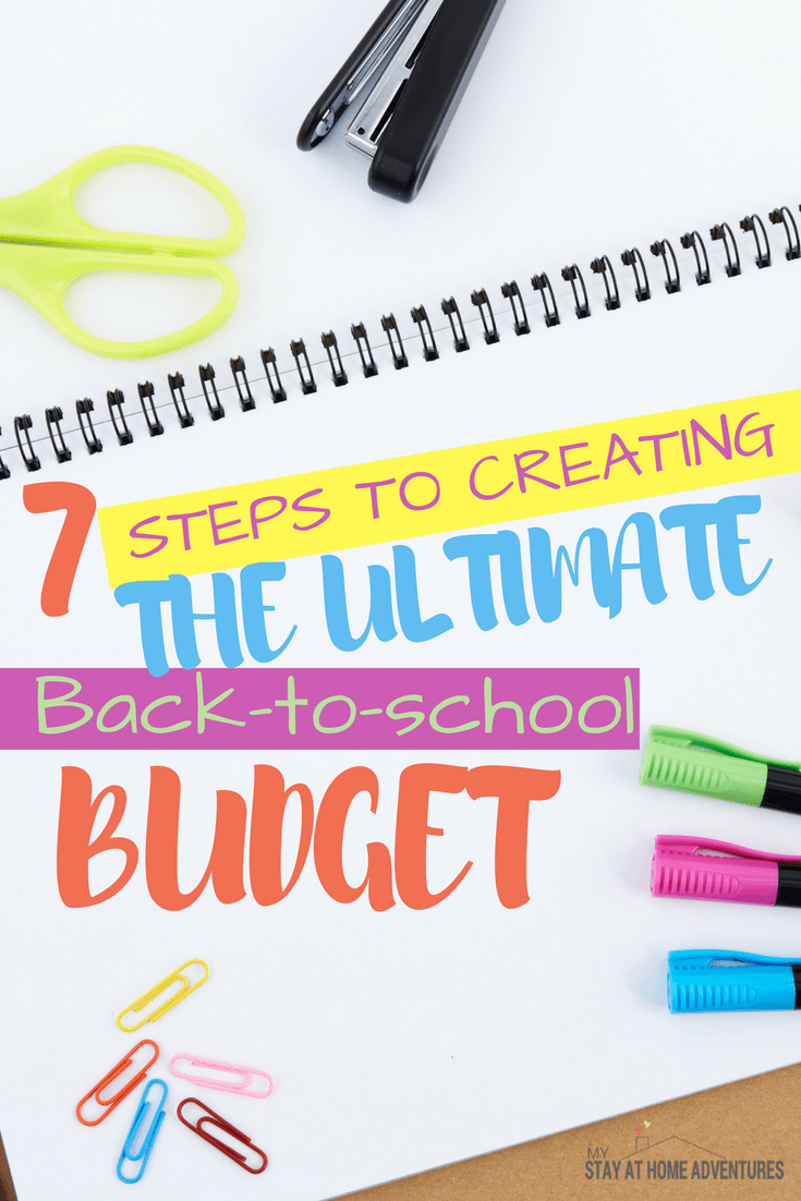 Learn to create the ultimate back to school budget this shopping season that will leave more money in your pocket. Download the free budget printable too. via @mystayathome