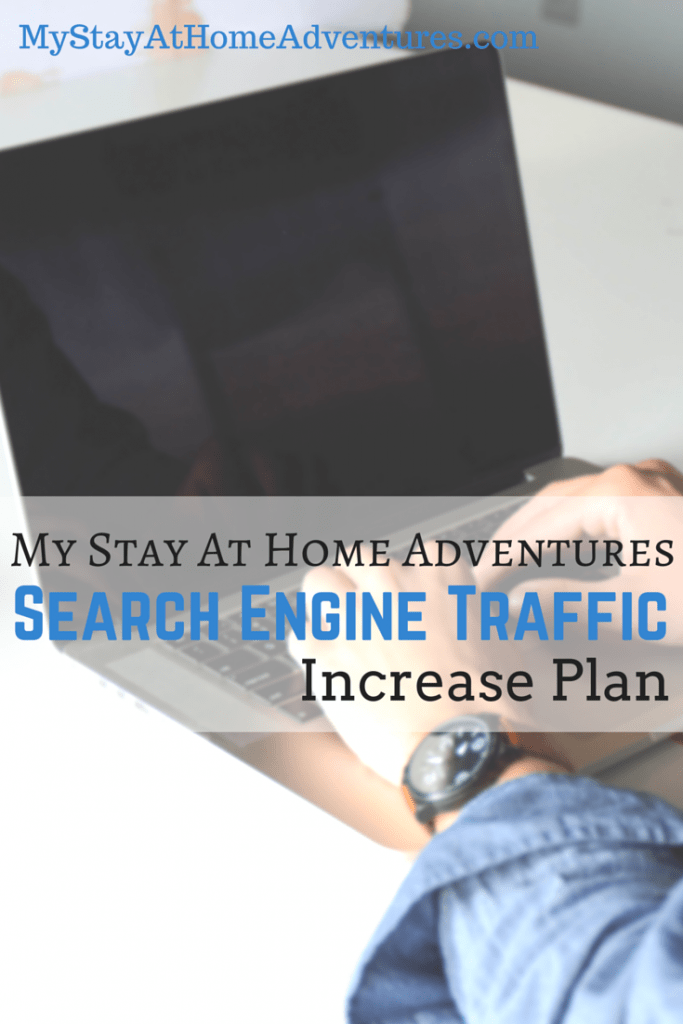 As a blogger  I want to take My Stay AT Home Adventures to the next level. This includes increasing my organic search traffic. Read how I am planning on doing this.
