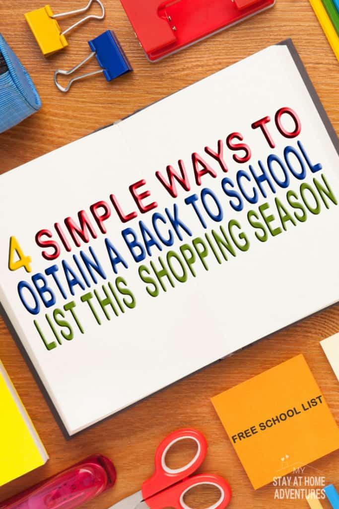 Where to obtain a back to school supply list and the money  saving reasons why you need to have one this back to school shopping season is a must! Plus Back to School list!