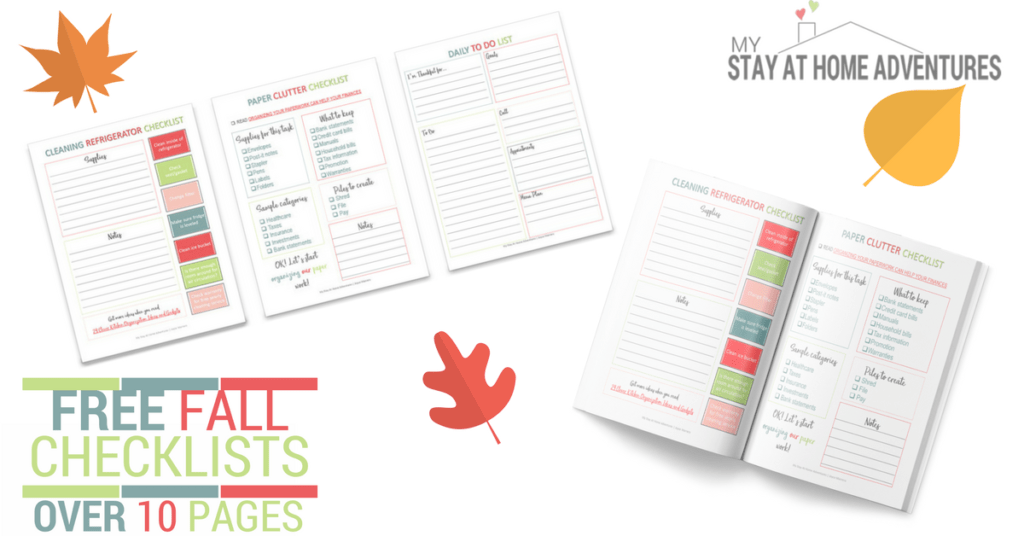 Free Fall Checklists that will help you stay organize and save money at the same time!