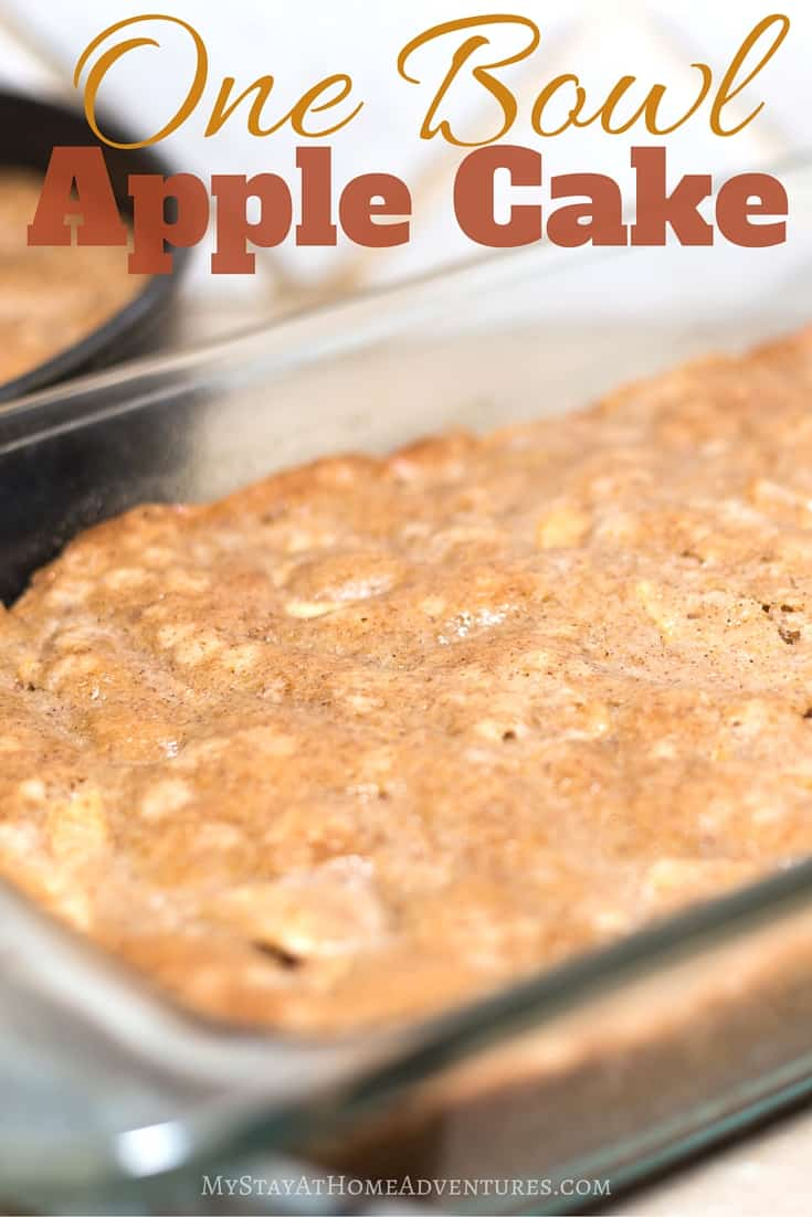 There are many One Bowl Apple Cake recipes out there, and I think I found one of the best one! Check out this One Bowl Apple Cake recipe, and you will agree. via @mystayathome