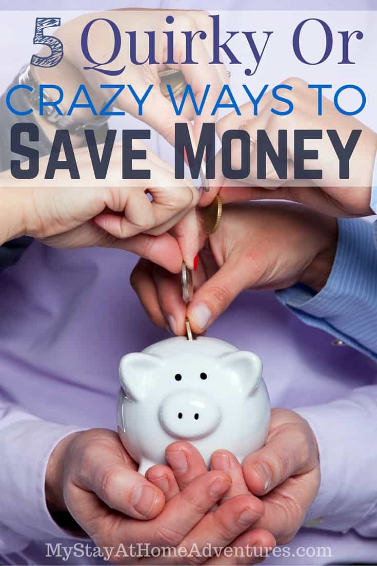 You are going to save money with these 5 quirky and crazy ways to save money that will blow you away. Learn what they are. via @mystayathome