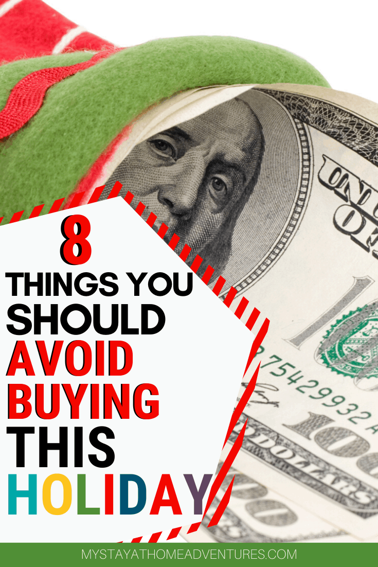 Financial Struggles are real this holiday season? Avoid wasting your money on these eight things during the 2019 Christmas season. via @mystayathome