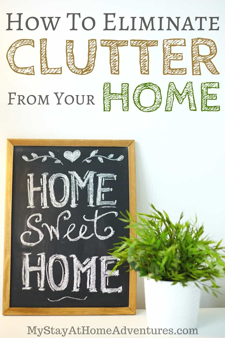 A cluttered home is not a happy home! Learn seven tips to eliminate clutter from your home and start taking charge of your home and your life!