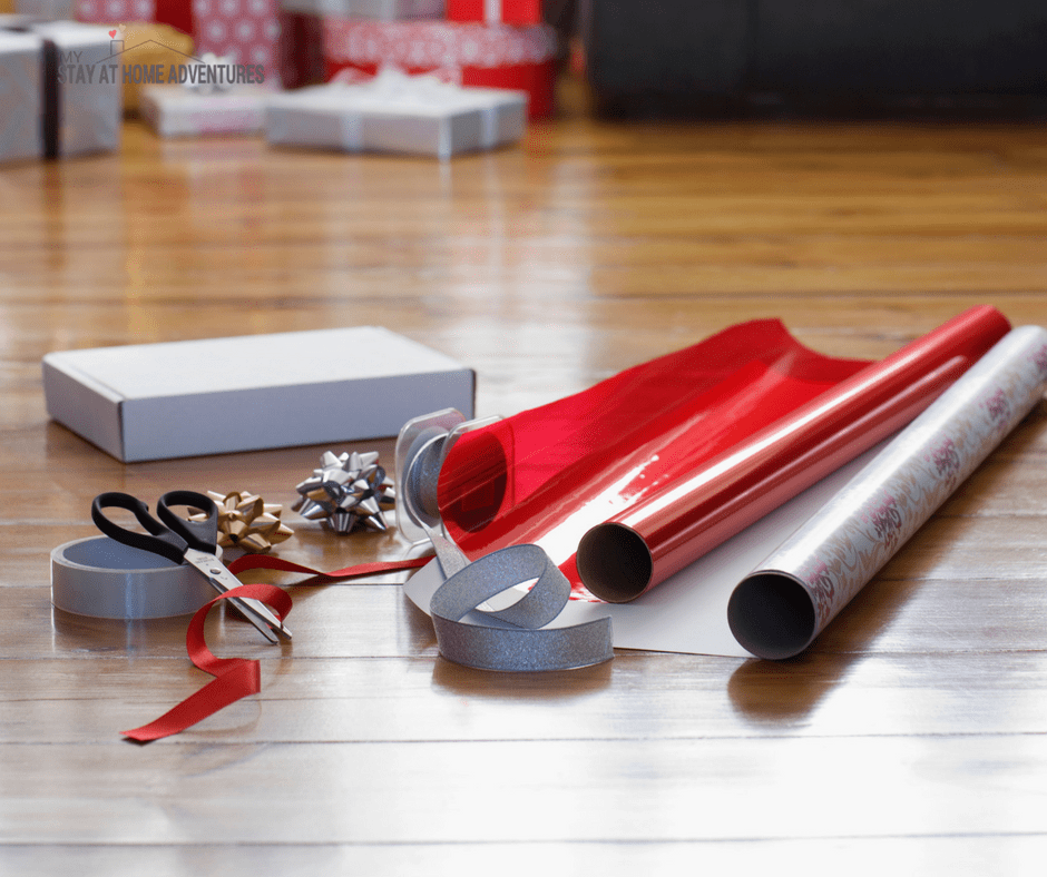 Avoid buying wrapping paper this Christmas when money is tight this holiday season.