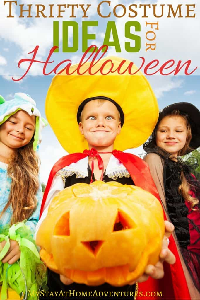Halloween sneaks up around the corner every year. One minute it's summer, and then we are hurrying looking for thrifty costume ideas for Halloween