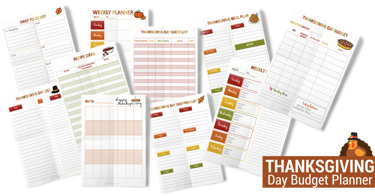A quick and fast Thanksgiving Survival Guide to help everyone stay on track and enjoy their Thanksgiving Day. Free downloadable planner available.