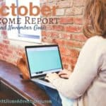 October Income Report and November Goals