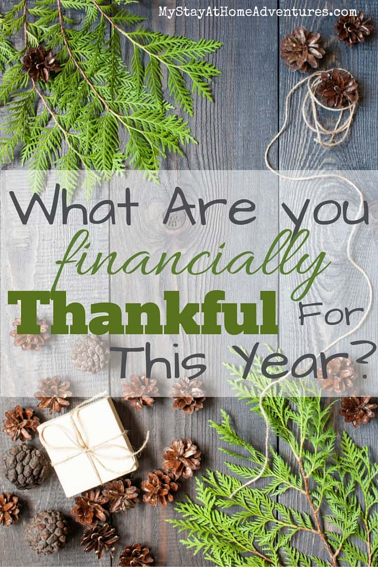 What Are you financially Thankful For This Year? I have to be honest and said that the road to debt freedom has taught me to be thankful of so many things including my finances and the way we manage them.