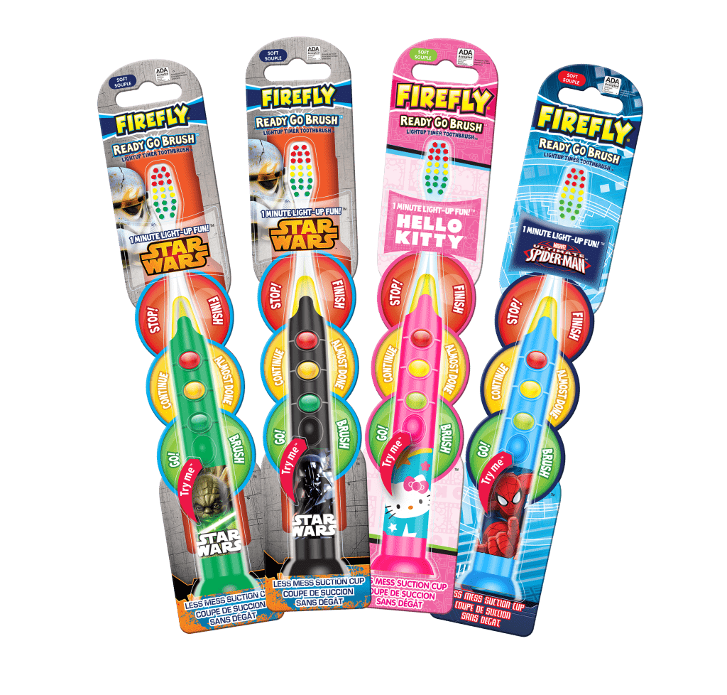 Firefly Ready Go Toothbrushes