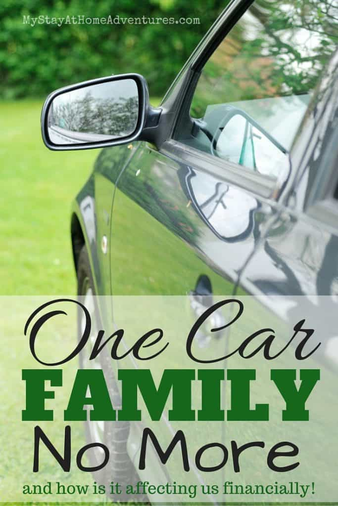 We have a confession to make. We are no longer a one car family! Read how adding another vehicle affected our finances and why we did it.
