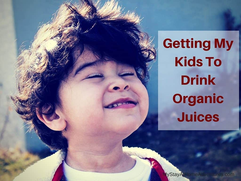 Learn how we are getting my kids to drink organic juices.  #Ad