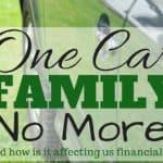 One Car Family No More