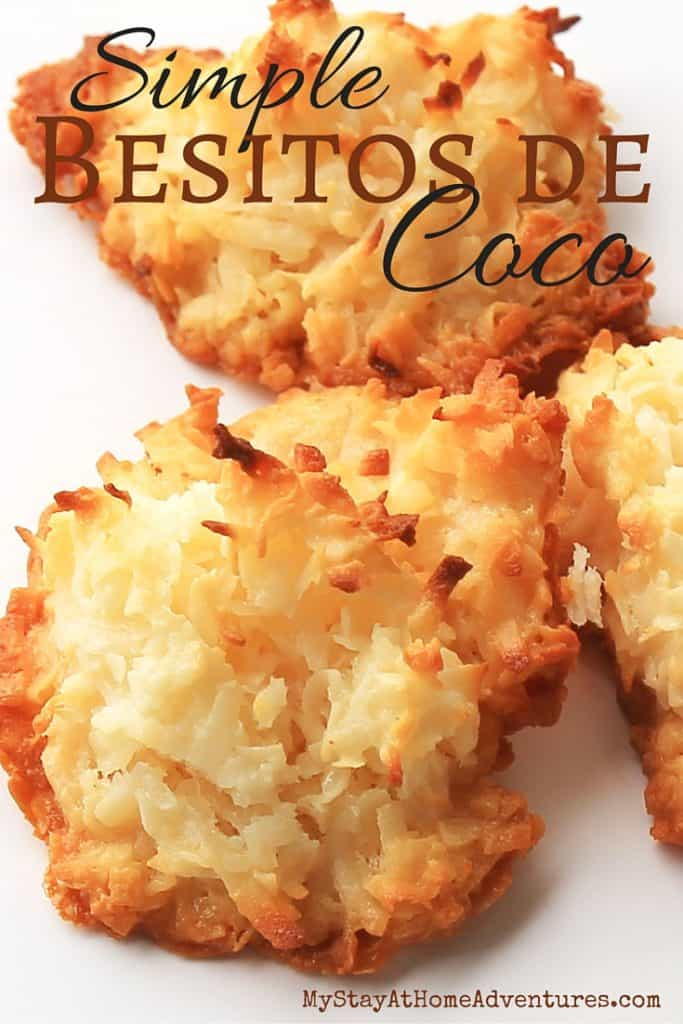 Simple yet so delicious, Besitos de Coco or Coconut Macaroons is a great treat to enjoy with the whole family. Only 3or 4 ingredients and you get your self a delicious coconut treat that reminds you of your childhood. #PuertoRican #Recipes #food #dessert