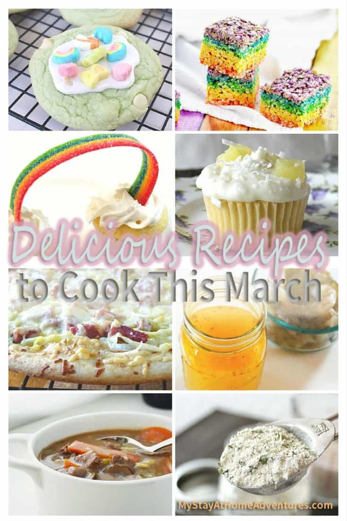 Over 15 Delicious Recipes to Cook This March Pinterest to celebrate all of March's holidays.