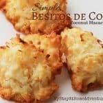 Simple Besitos de Coco / Coconut Macaroons