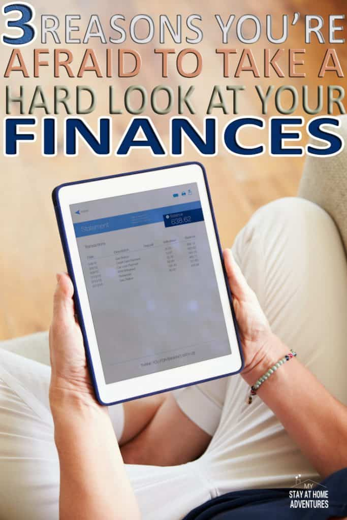 Why are we afraid to look at our personal finances? Learn 3 reasons most of us are afraid to look at our finances and learn how you can overcome this fear and start taking control of your finances with this steps.