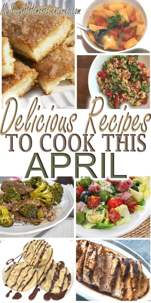 Looking for some recipes to cook this April? We have them here! While working on my menu plan for April I found some delicious mouthwatering recipes.