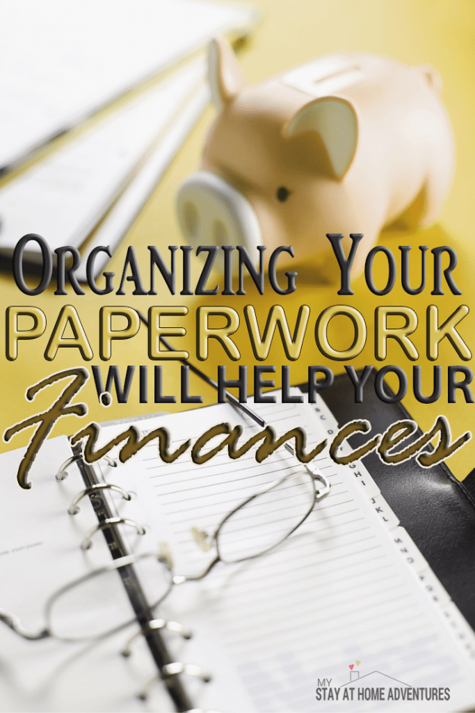 Organizing your paperwork can help your finances. Read the reasons why organizing your paper work will help your finances and tips on how to get it done