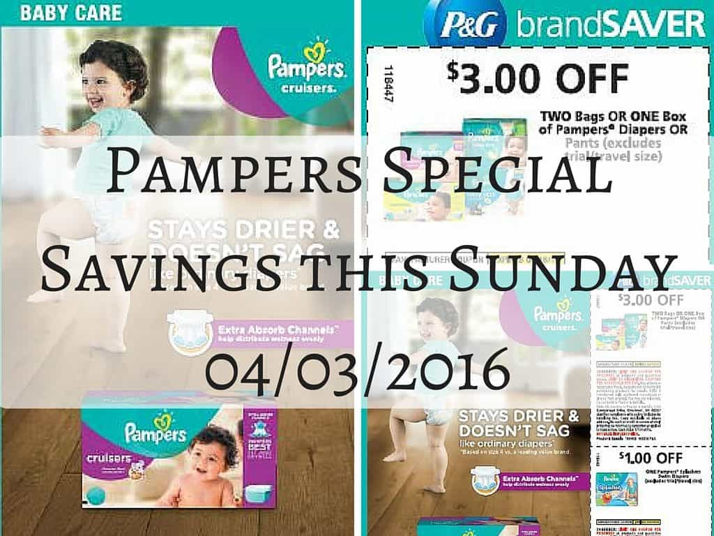 Pampers Special Savings this Sunday 04_03_2016