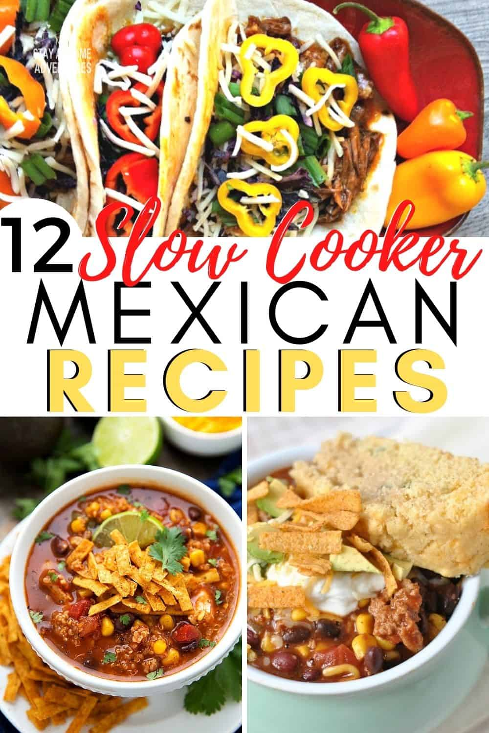 Looking for Mexican recipes to try with your busy family? Check out these mouth-watering slow cooker Mexican recipes for busy families. #slowcooker #mexicanfood via @mystayathome