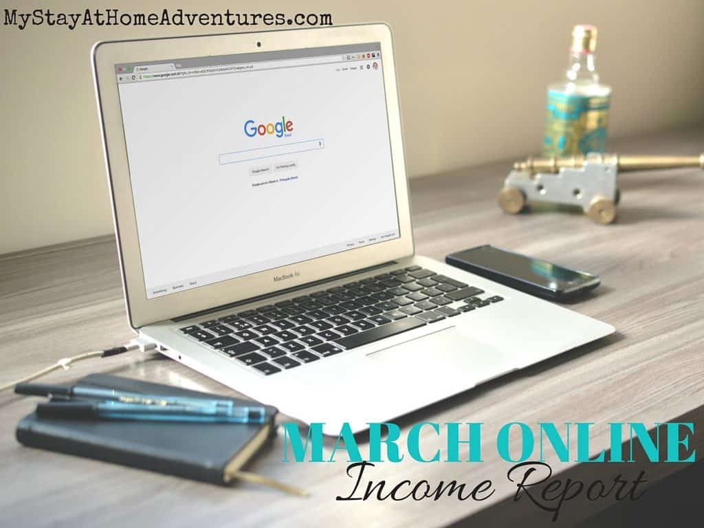 Read how fabulous or terrible my March online income was. Increasing my online income is my top goal for 2016 and each month I will show you.