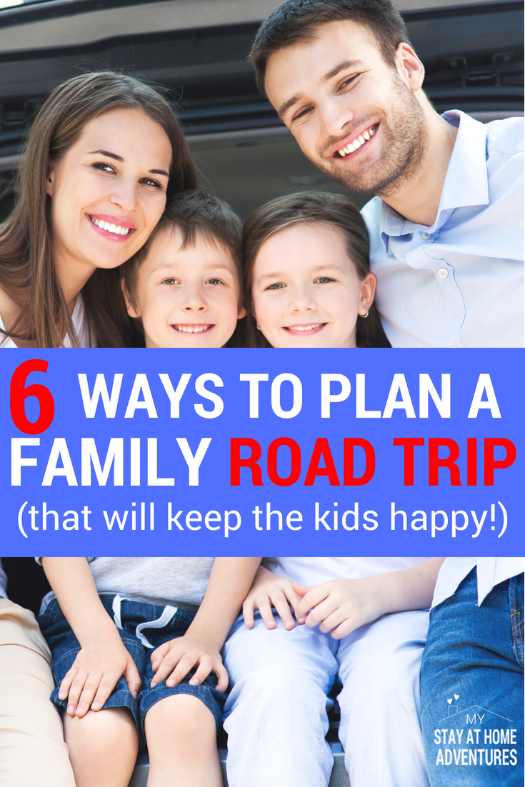 Planning a family road trip with kids? Learn six ways to plan the perfect family road trip that will keep everyone in your family happy! These family planning road trip tips work with any family size. Happy travels.
