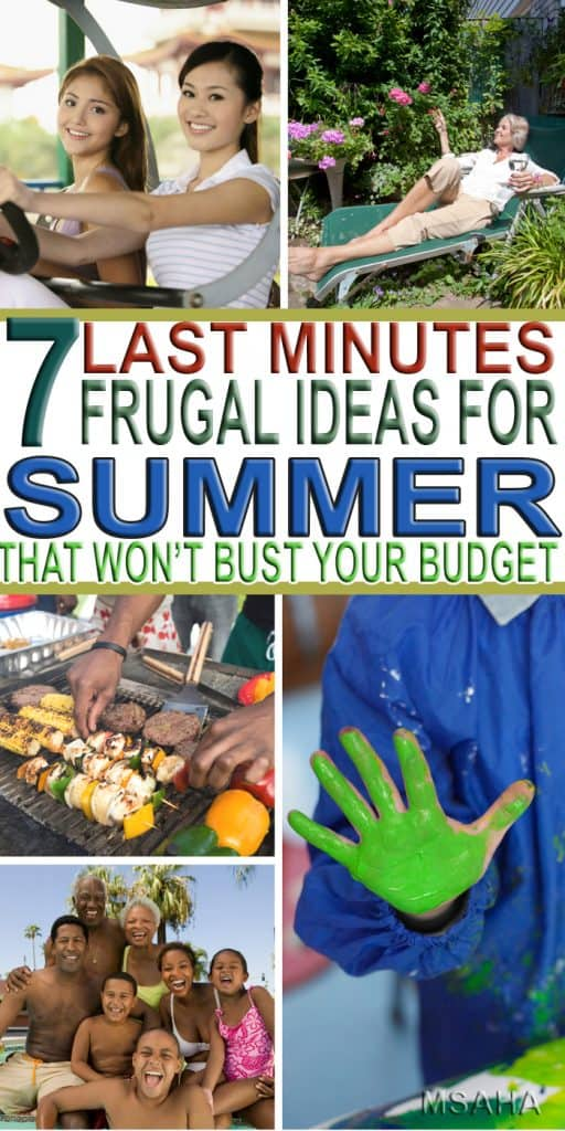 Enjoy your summer with these 7 last minute frugal ideas for summer and don't worry about breaking your budget. Your family and your finances will thank you!