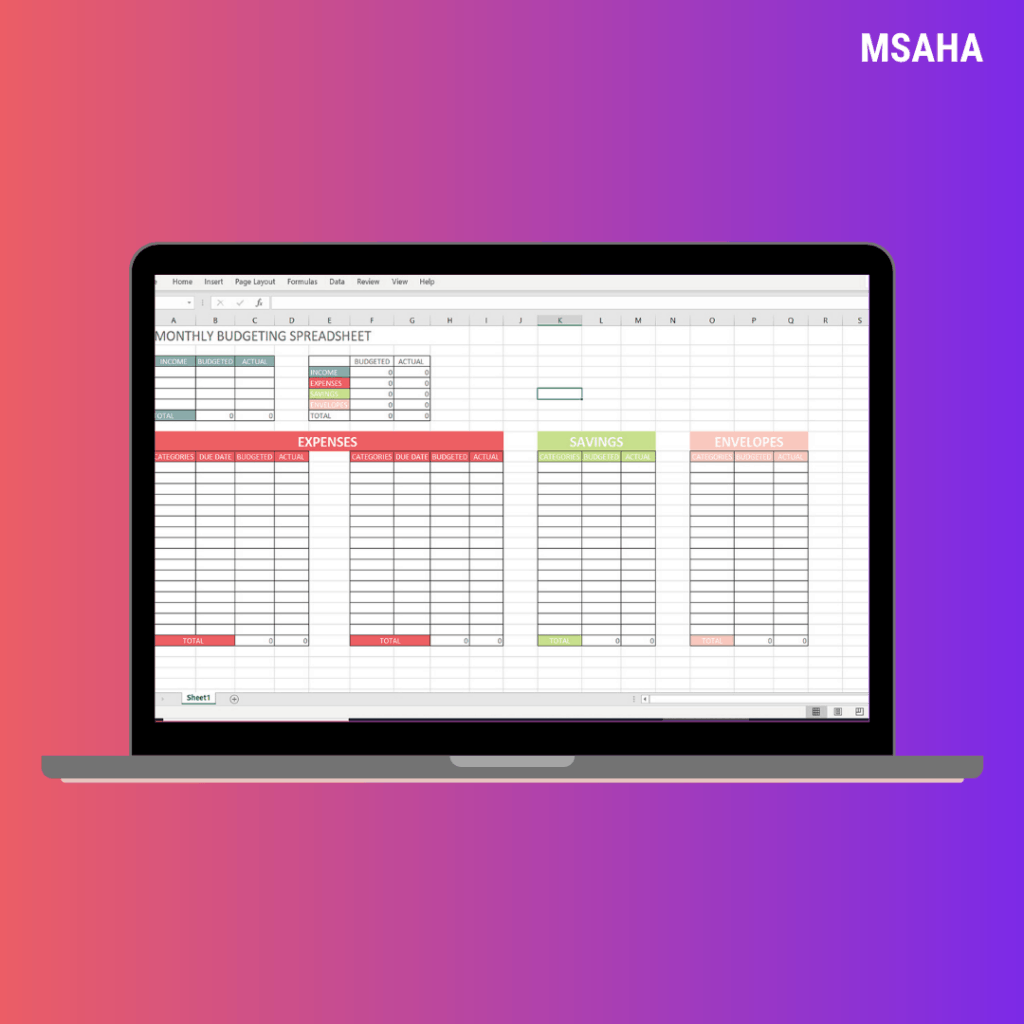 The Best 2020 Personal Budgeting Templates Free Download