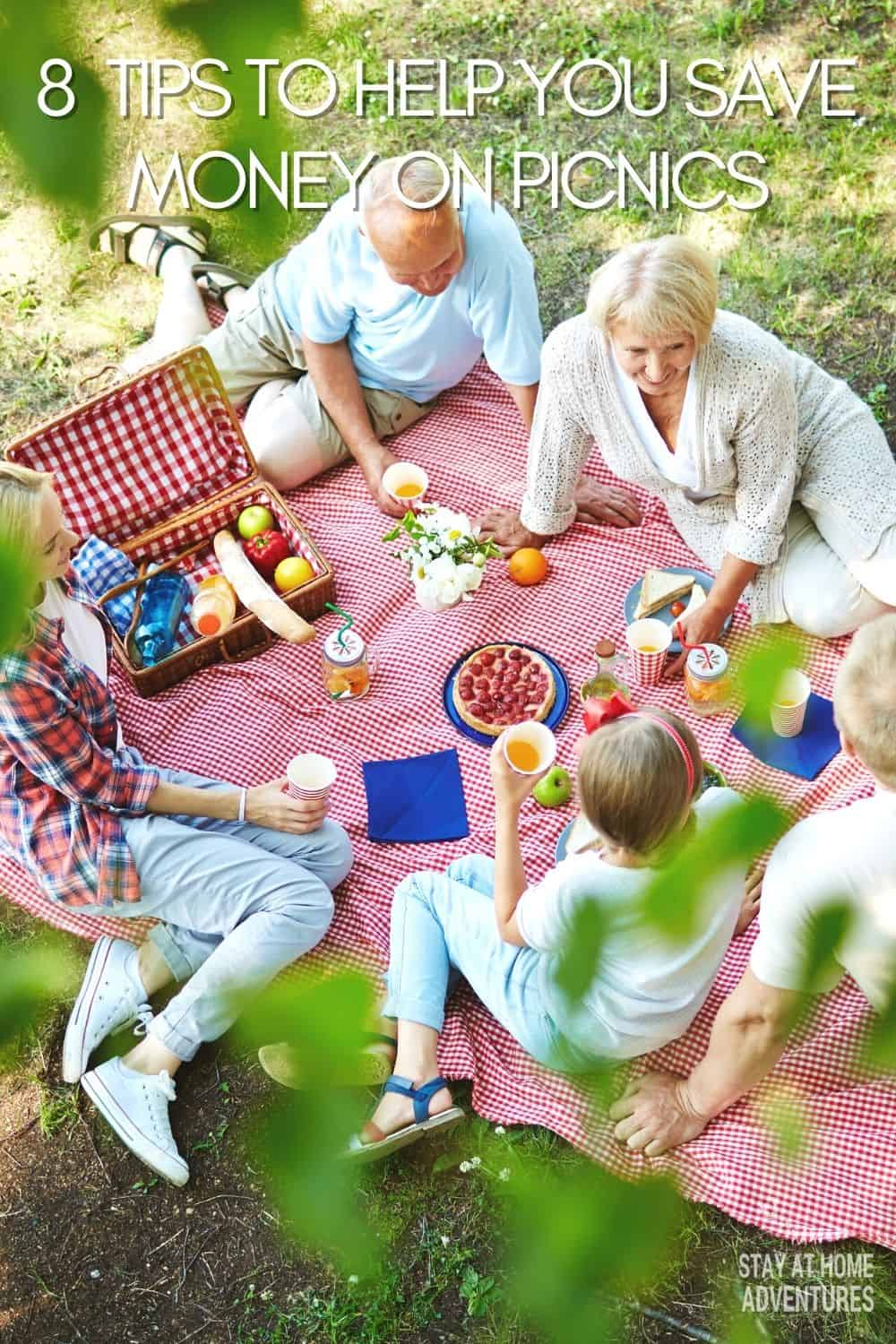 If you are on a budget this summer, you need to read these 8 never thought of tips to help you save money on picnics. These will help you enjoy wonderful picnics without busting your budget. via @mystayathome