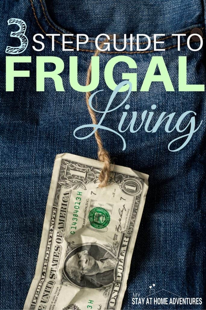 There's saving money and then there is living frugally. There is a difference in the two, learn the difference with the 3 step guide to frugal living.