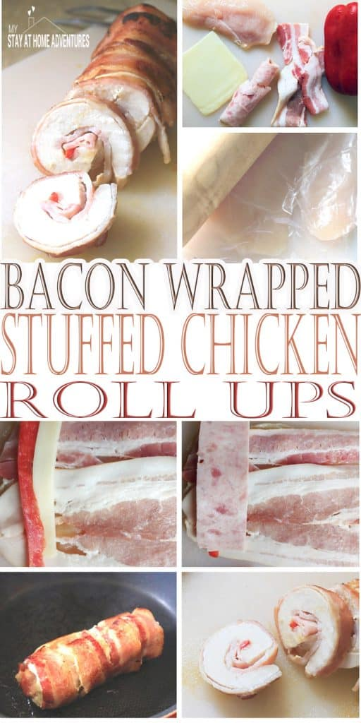 Bacon Wrapped Stuffed Chicken Roll Ups - Checkout this bacon wrapped stuffed chicken roll ups recipe that won't break the bank. Simple and so delicious your family will love it.