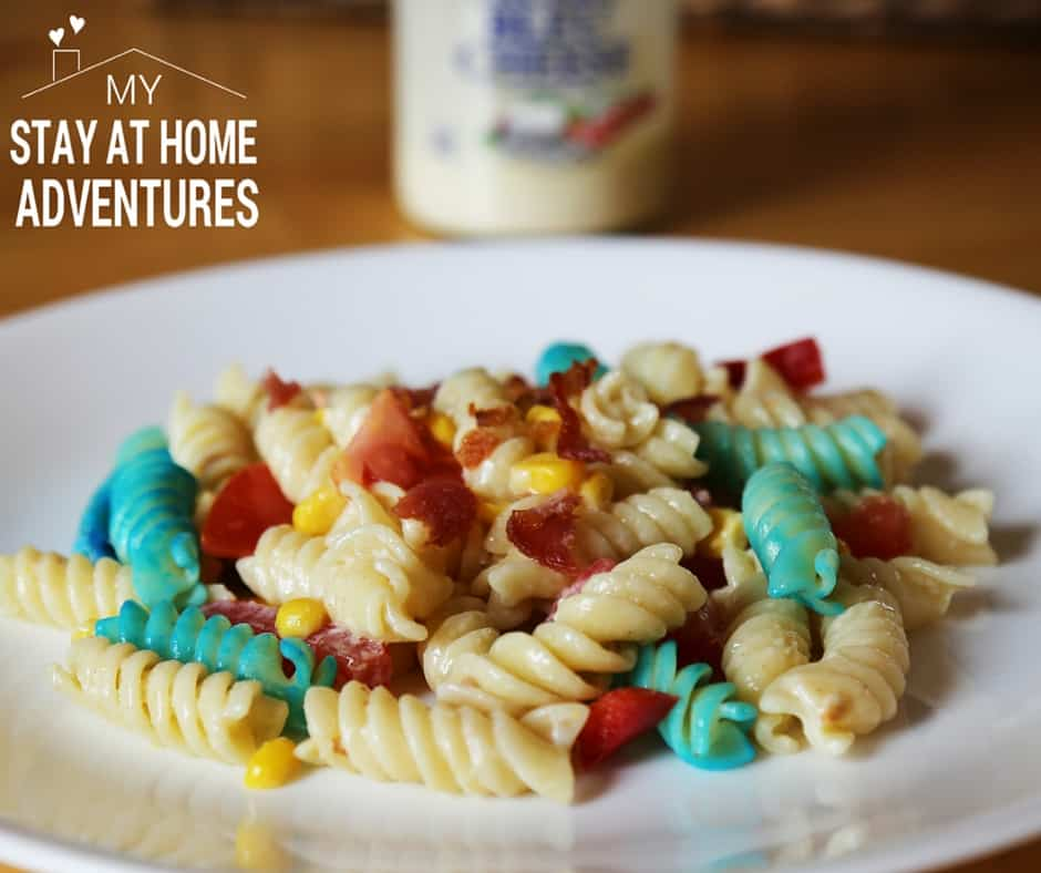 Red White & Blue Blue Cheese Pasta Salad
