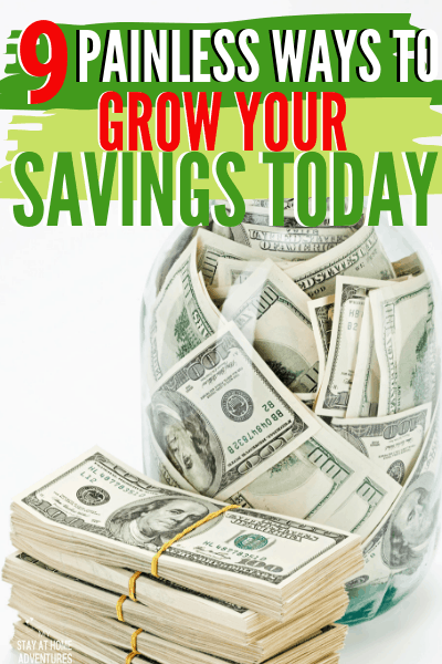 Grow your savings with these 9 tips that have proven to work no matter your household income. Learn tricks to grow your money fast or online and more. via @mystayathome