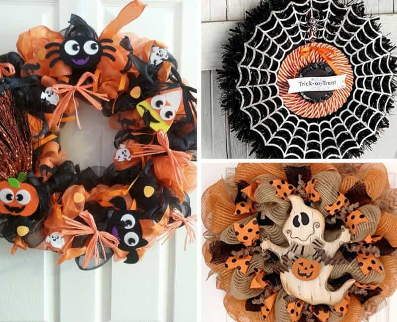 The Best Halloween Wreath Ideas For Non-Crafters!