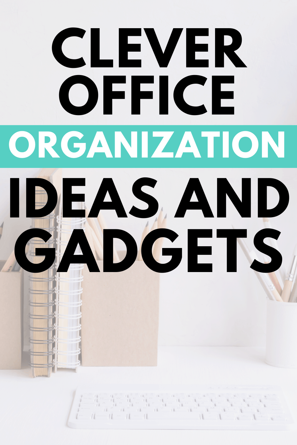 Finding and coming up with ideas to keep your home office organized can be challenging. Here are Office Organization Ideas and Gadgets to help you! via @mystayathome