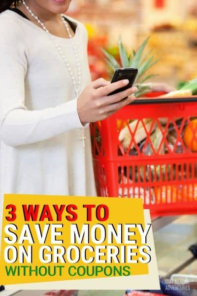 You don't need coupons to save money on groceries. There are three ways to save money on groceries that don't require coupons. via @mystayathome