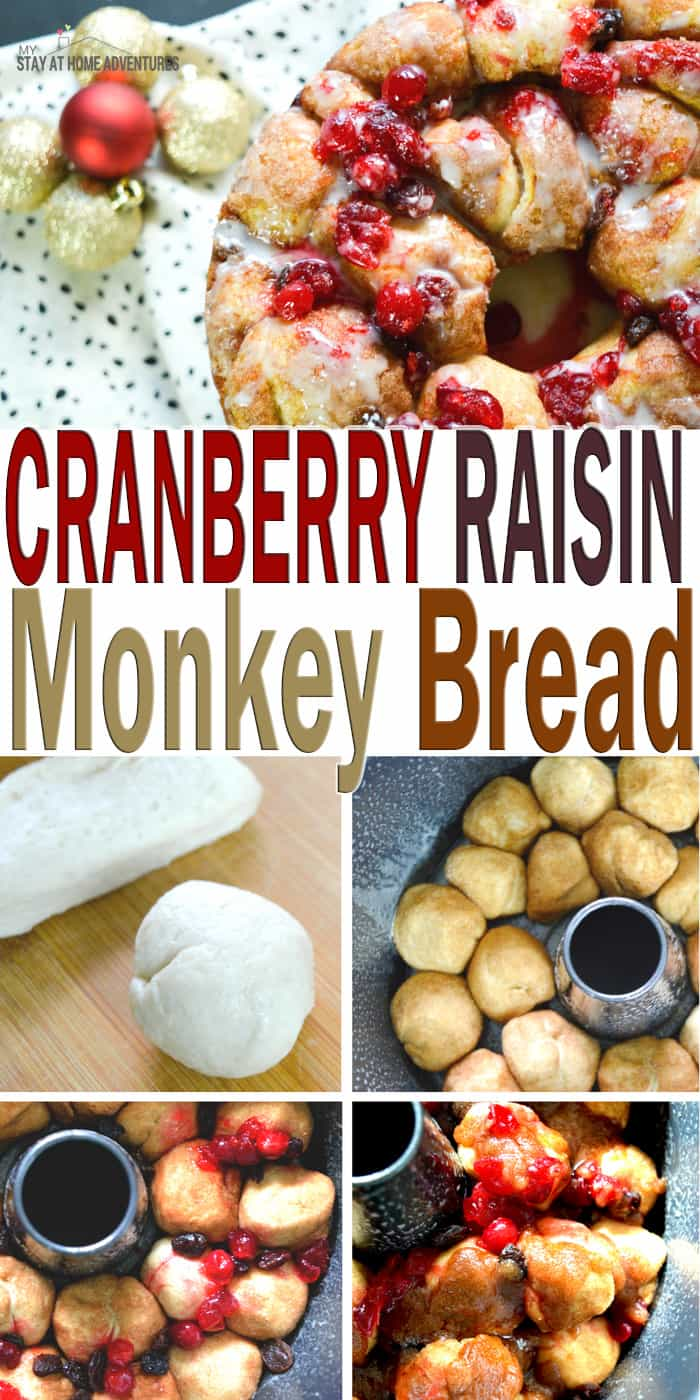 Delicious Cranberry Raisin Monkey Bread Recipe your family and friends will enjoy this holiday season. Learn how to make it this mouthwatering recipe! via @mystayathome