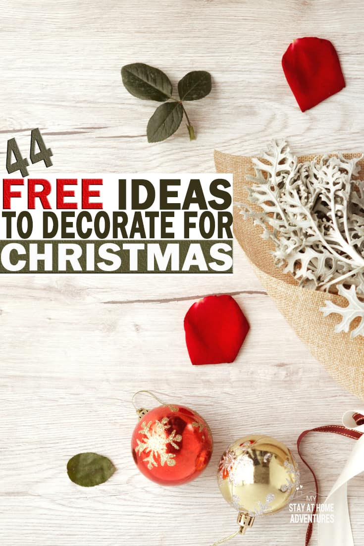The holiday season is wonderful but not so wonderful on your wallet! To help you check out these awesome ideas to decorate for free this Christmas. via @mystayathome