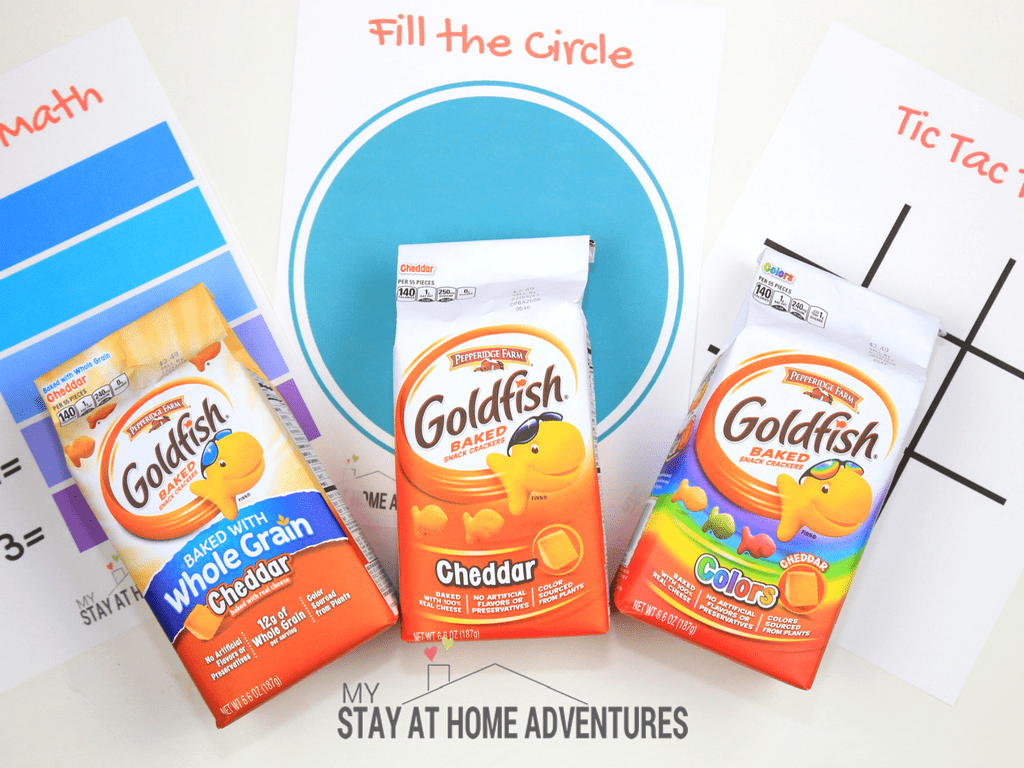 Looking for some goldfish crackers games? Check out these educational and fun games ideas that will bring joy and laughter. #GoldfishMoments #AD