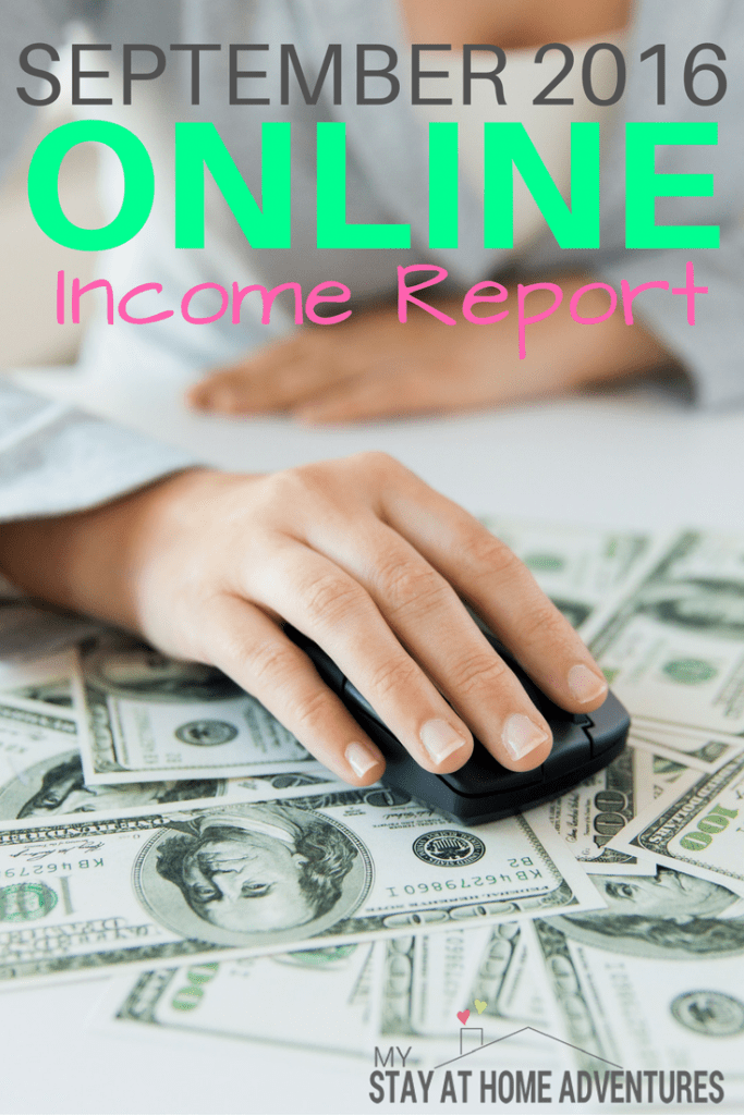 I never thought I was going to be able to make money blogging. Honestly, I am very pleased with my September 2016 online income report and here's why.